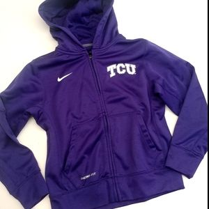 Nike TCU Youth Small Full Zip Purple Hoodie